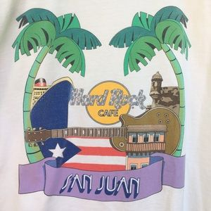 90s Vintage Hard Rock Cafe San Juan, PR EUC sz XL